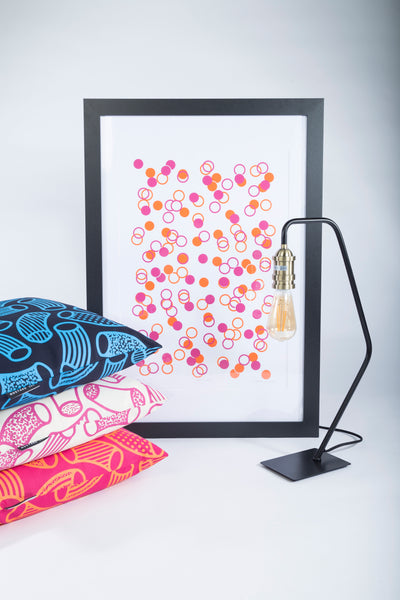 Limited Edition Unframed A2 Pink and Orange Confetti Wall Print
