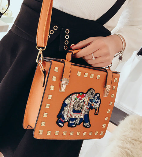 Tan Elephant Handbag