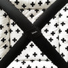 Black + White Crosses Playmat