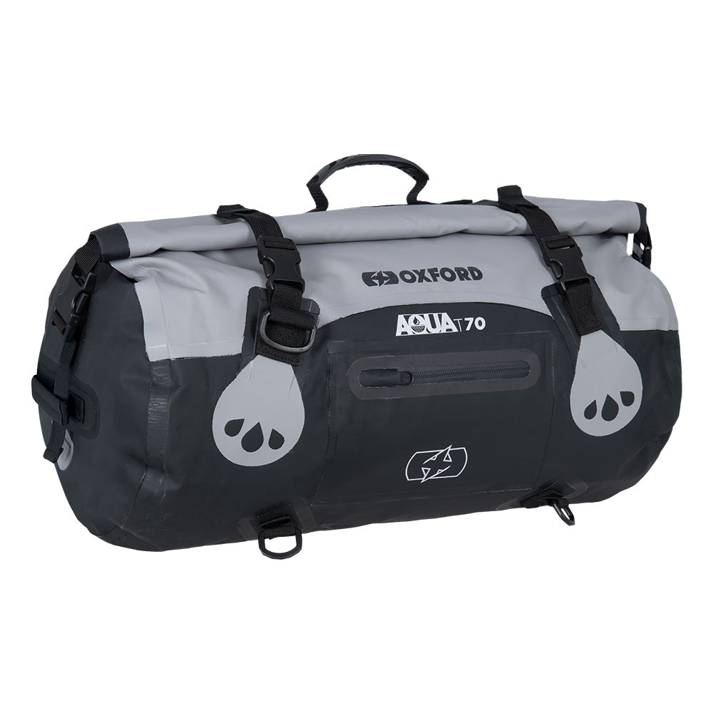 Oxford AQUA T-70 ROLL BAG - GREY/BLACK