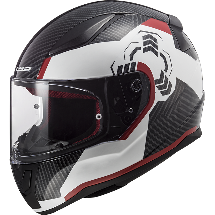 LS2 Rapid FF353 Ghost Wht / Blk / Red