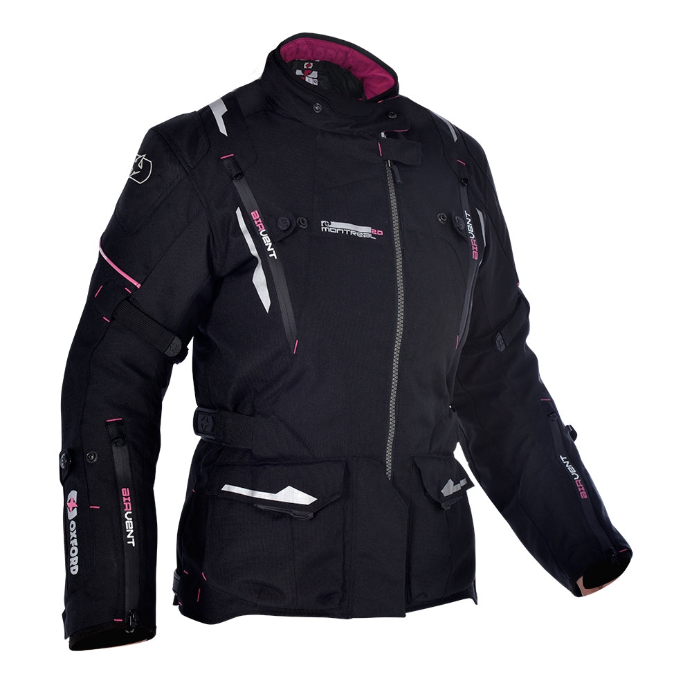 Oxford Montreal 2.0 Womens Textile Jacket Tech Black