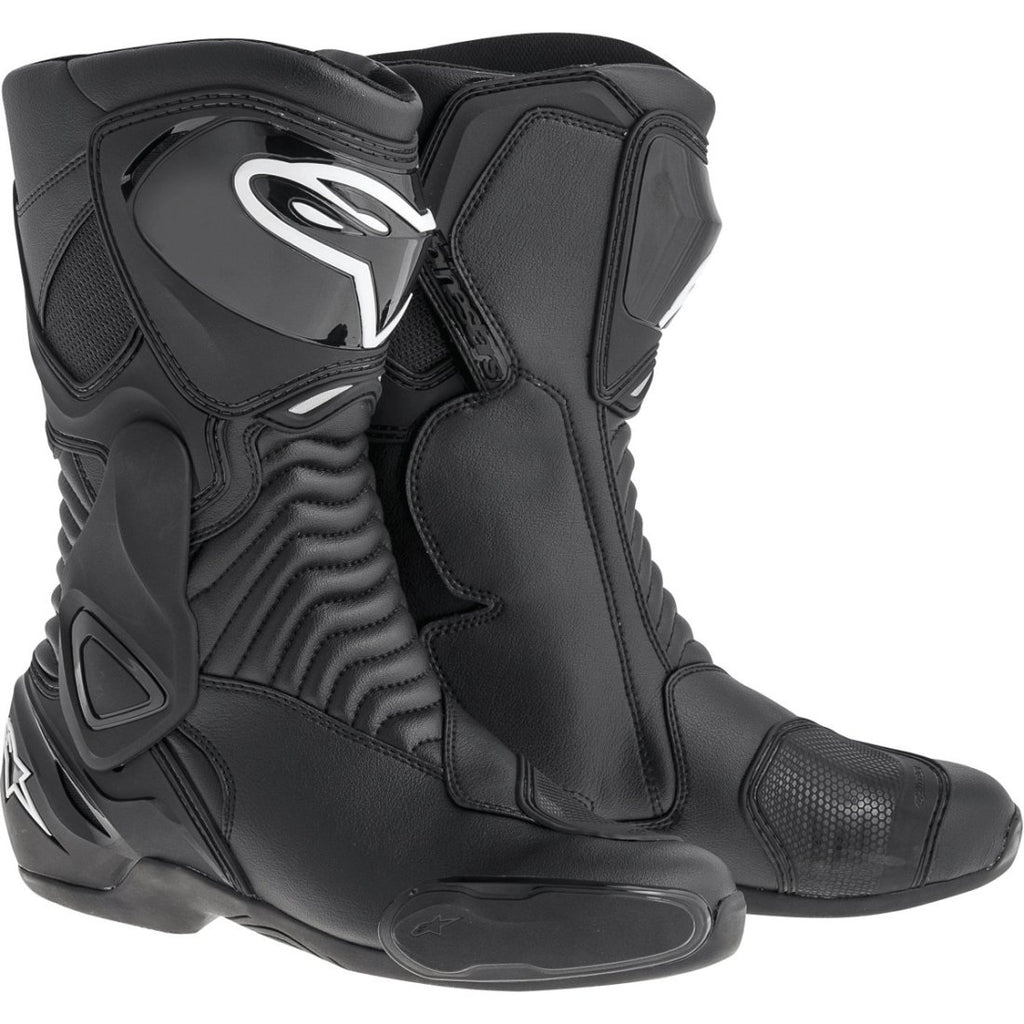 Alpinestars SMX 6 V2 Motorcycle Boots CE Sports Black//White//Yellow//Fluo//Blue