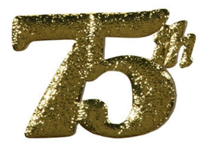 Gold 75th Cut Out for centerpieces