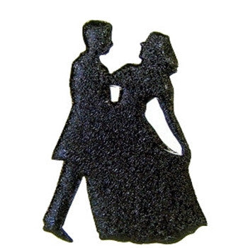 Black Cracked Ice Dancing Couple Cut Out for Centerpieces
