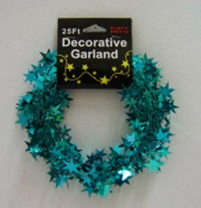 Teal Star Garland