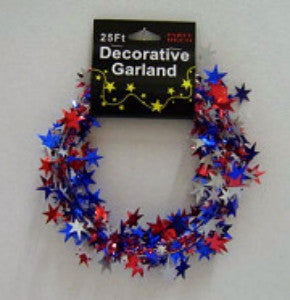 Red/White/Blue Star Garland