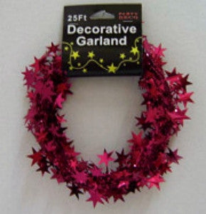 Burgundy Star Garland