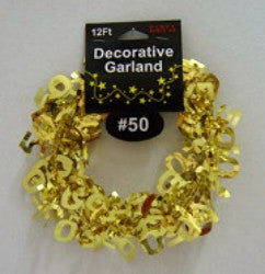 50th  Garland - Gold