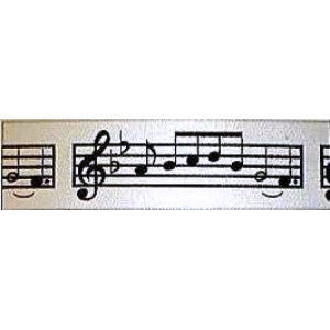 Music Notes Ribbon