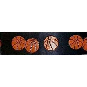 Black Basketball Theme Ribbon