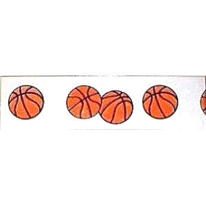 White Basketball Theme Ribbon