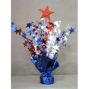 Glitter Top Star Weight - Patriotic