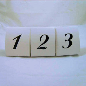 Table Numbers (1 - 15 )