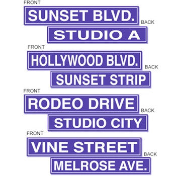 Hollywood Street Sign Set