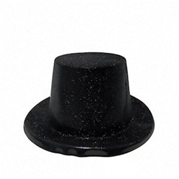 Glittered Top Hat - Black
