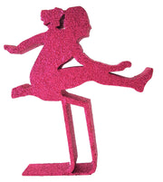 Hurdler Cut Out Girl