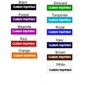Imprinted Ribbon Colors