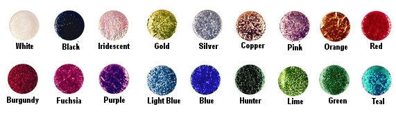 Cracked ice color chart
