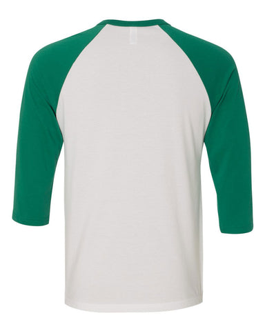1 - Baseball Raglan - White/Kelly