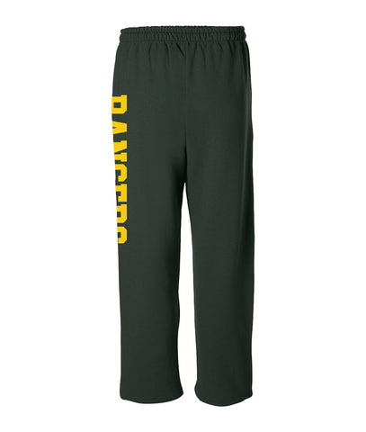HT Forest Green Open Bottom Sweatpants