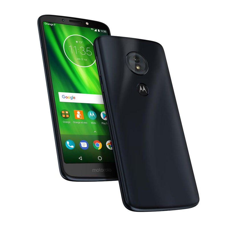 Motorola Moto G6 Play (Pre-Owned, 32GB, Dual Sim, Blue, Special Import)-Smartphones (Open Box)-Connected Devices