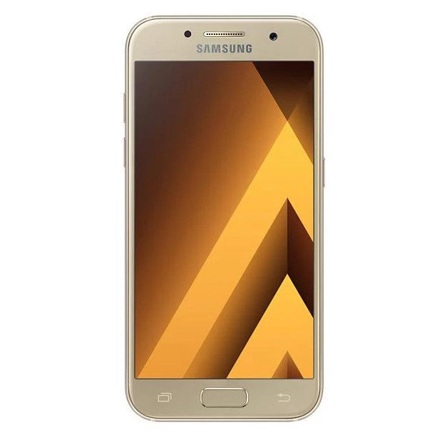 Samsung Galaxy A3 (2017, 16GB, Gold Sand, Local Stock)-Smartphones (New)-Connected Devices