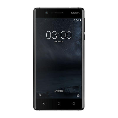 Nokia 3 (16GB/2GB, Matte Black, Single Sim, Local Stock)-Smartphones (New)-Connected Devices