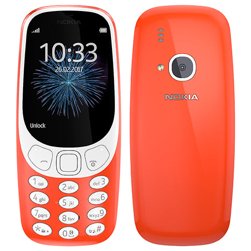 Nokia 3310 (2017, 16MB, Single Sim, Warm Red, Local Stock)