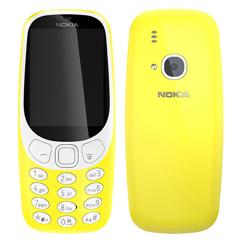 Nokia 3310 (2017, 16MB, Single Sim, Yellow, Local Stock)