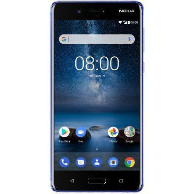 Nokia 8 (Pre-Owned, 64GB, Dual Sim, Tempered Blue, Special Import)-Smartphones (Open Box)-Connected Devices