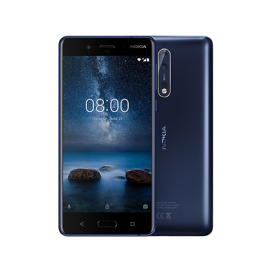 Nokia 8 (64GB, Single Sim, Tempered Blue, Local Stock)