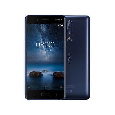 Nokia 8 (64GB, Dual Sim, Tempered Blue, Special Import)-Smartphones (New)-Connected Devices