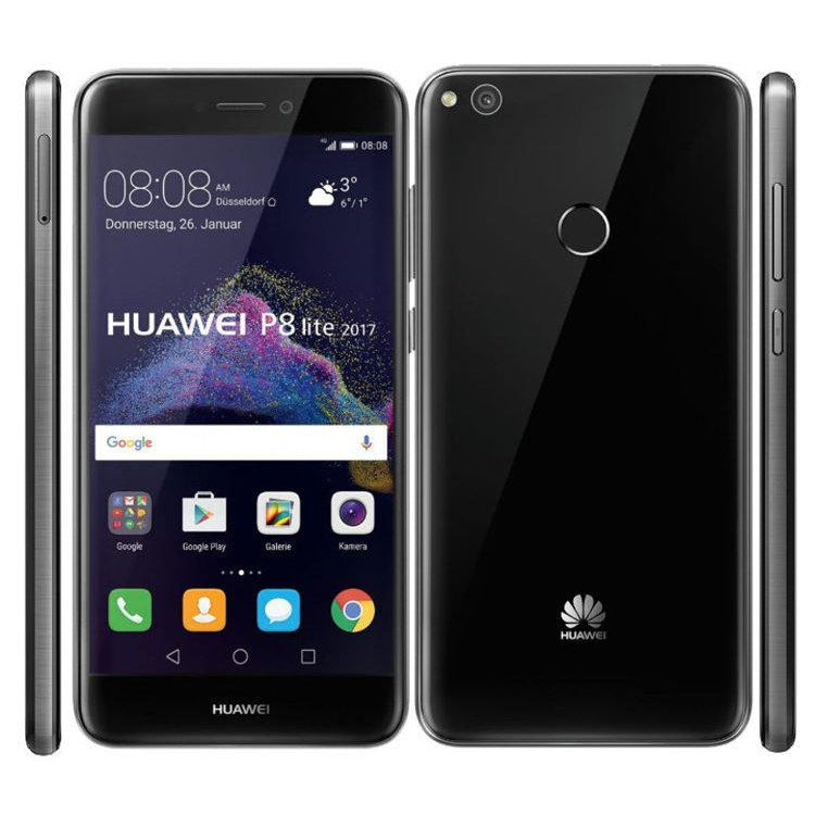Huawei P8 Lite (2017, Black, Single Sim, Local Stock)
