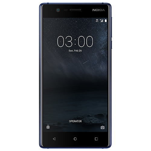 Nokia 3 (16GB/2GB, Tempered Blue, Single Sim, Local Stock)-Smartphones (New)-Connected Devices
