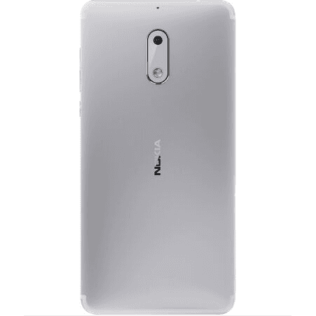 Nokia 6 (32GB, Single Sim, Silver, Local Stock)-Smartphones (New)-Connected Devices
