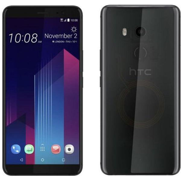 HTC U11+ (Dual Sim, 128GB, Translucent Black, Special Import)