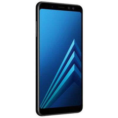 Samsung Galaxy A8 (2018, Dual Sim, 32GB, Midnight Black, Special Import)-Smartphones (New)-Connected Devices