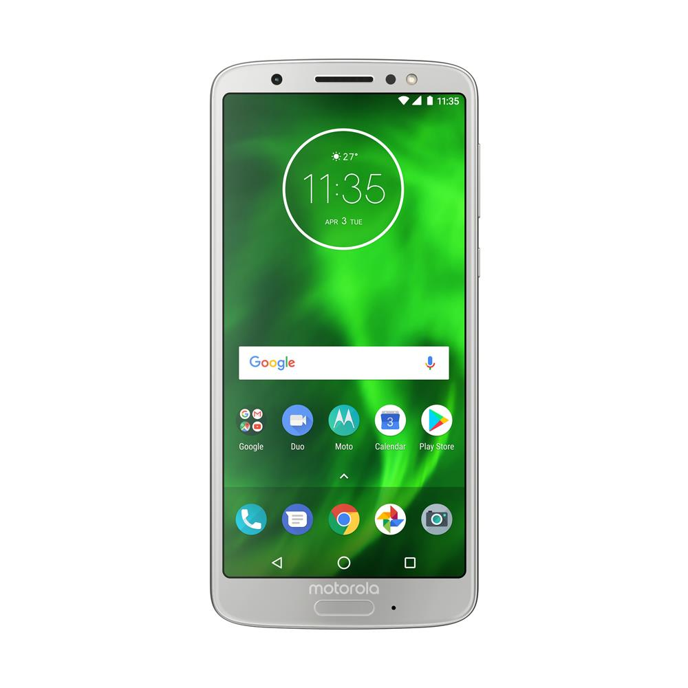 Motorola Moto G6 (32GB, Dual Sim, Silver, Special Import)-Smartphones (New)-Connected Devices