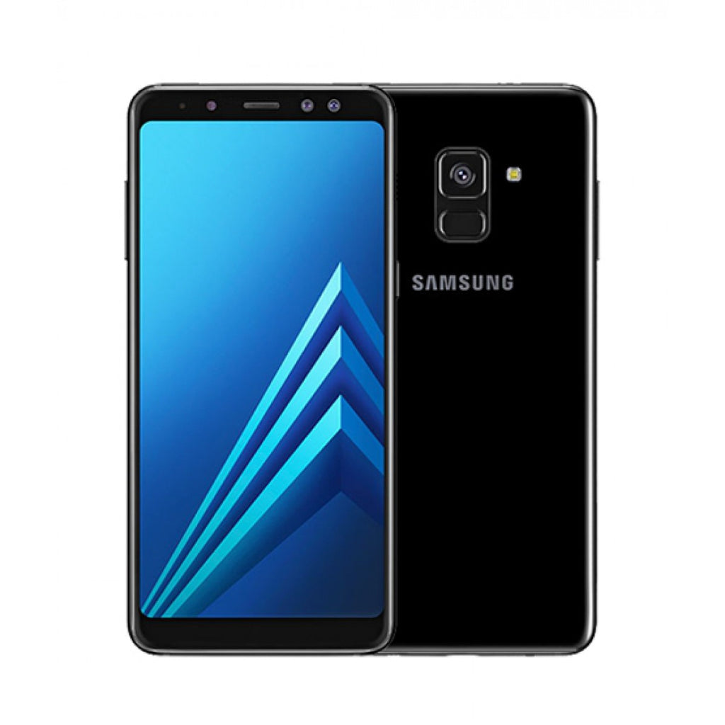 samsung galaxy a8 plus 2018 dual sim 64gb black special import. Black Bedroom Furniture Sets. Home Design Ideas