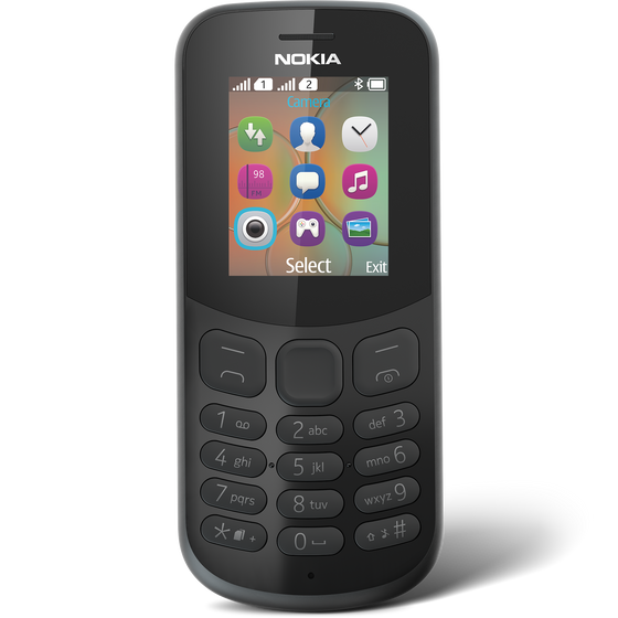 Nokia 130 (2017, Single Sim, Black, Local Stock)