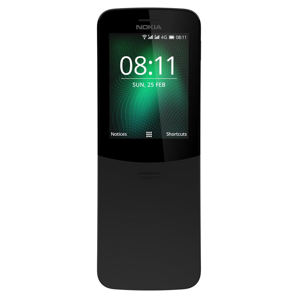 Nokia 8110 (Dual Sim, Black, 4G, Special Import)-Smartphones (New)-Connected Devices