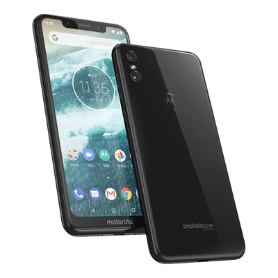Motorola Moto One (64GB, Dual Sim, Black, Special Import)-Smartphones (New)-Connected Devices