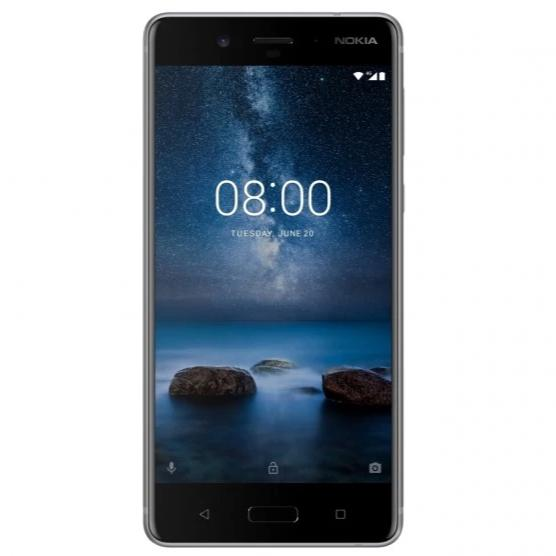 Nokia 8 (64GB, Single Sim, Steel, Local Stock)
