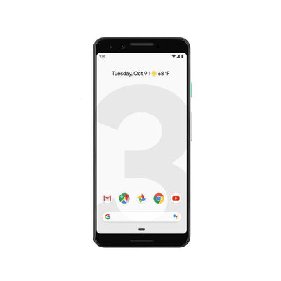 Google Pixel 3 (128GB, Clearly White, Special Import)-Smartphones (New)-Connected Devices