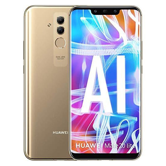 Huawei Mate 20 Lite (64GB, Dual Sim, Gold, Special Import)-Smartphones (New)-Connected Devices