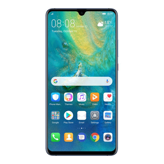 Huawei Mate 20 X  (128GB, Dual Sim, Midnight Blue, Special Import)