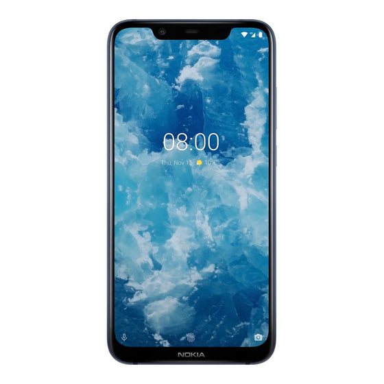 Nokia 8.1 (64GB, Blue/Silver, Special Import)