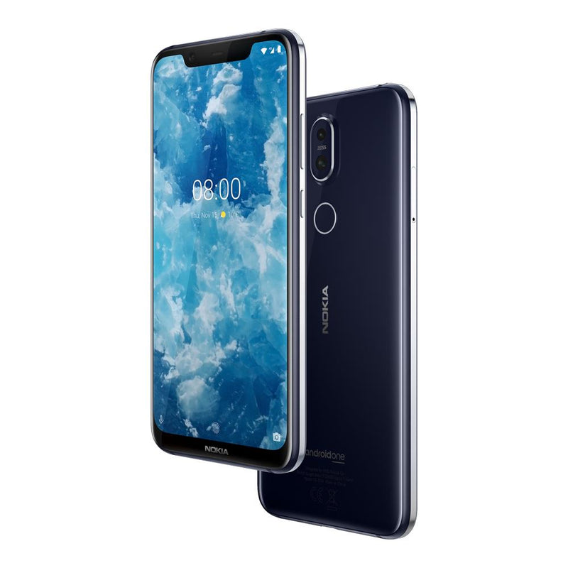 Nokia 8.1 (64GB, Blue/Silver, Special Import)-Smartphones (New)-Connected Devices
