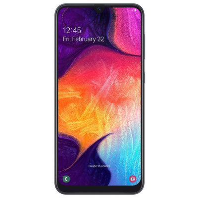 Samsung Galaxy A50 (128GB, Dual Sim, Black, Special Import)-Smartphones (New)-Connected Devices